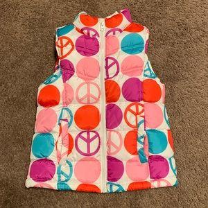 Old Navy Girls Fleece Lined Puffer Vest Medium (8)